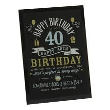get ations 40th birthday gift ideas gl plaque gift ideas for him her friends grandpas