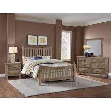 Maple Road Weathered Gray Slat Bed