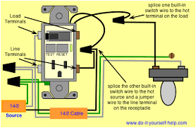 wiring outlets lights electrical how can i wire a gfci combo switch so that the switch enter image description