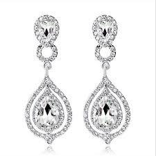 2019 <b>New</b> Shining <b>Fashion</b> Crystals Bridal Earrings <b>Rhinestones</b> ...