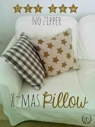 diy sew no zipper xmas pillow