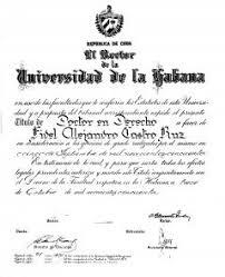 Диплом доктора юридических наук Фидель солдат идей Диплом доктора юридических наук