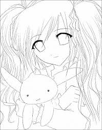 Anime Wolf Girl Coloring Page Download Anime Female Wolf Face