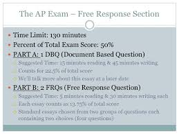 frq ap us history ppt the ap exam response section