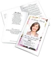 Memorial Pamphlet Template Memorial Program Template Word Funeral Program Templates Free