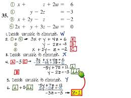 solving systems of equations by elimination worksheet solving system of 4 variables elimination you