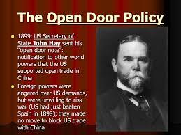 open door policy john hay modren john to open door policy john hay