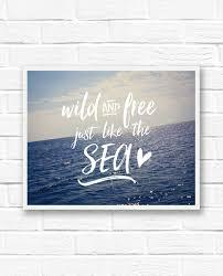 Ocean Quotes Cool Ocean Quotes Beach Quotes Word Art Print Ocean Wall Art Etsy