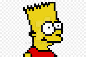 bart simpson maggie simpson homer simpson pixel art drawing bart simpson