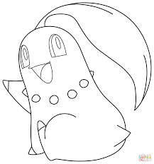 Chikorita Pokemon Coloring Page From Generation
