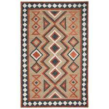 mesa brown multicolor 8 ft x 11 ft rectangle area rug