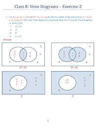 Venn Diagram For Sets Class 8 Venn Diagrams Exercise 2 Icse Isc Mathematics Portal
