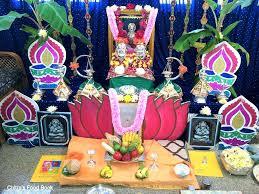 How Many Lamps To Light In Pooja Room In Kannada Varalakshmi Vratham Pooja Procedure Puja Vidhanam Chitras