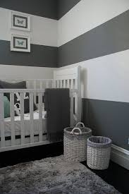 Marvelous GREY AND WHITE STRIPED WALLS For The Babyu0027s Room, With Navy Accent Wall, And