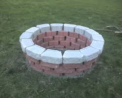 round brick fire pit round brick home fire pit designs with white brick brick fire pits