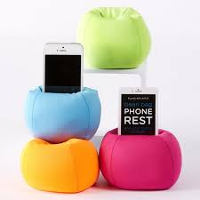 bean bag iphone stand