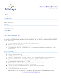 X Ray Technician Resume Sample Of Resignation Letter Thank You Ideas