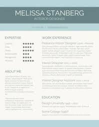 Contemporary Resume Templates Free
