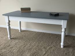 planked top coffee table with recycled