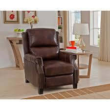 Overstock Living Room Chairs Rivington Brown Premium Top Grain Italian Leather Recliner Chair
