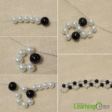 Beading Patterns For Beginners Awesome How To Make An Easy Black And White Beaded Bracelet With Wave