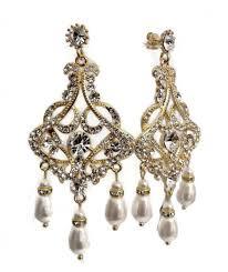 gold chandelier bridal earrings art deco gatsby jewelry chantelle
