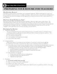 Resume With Teaching Experience Resume For Teachers With No