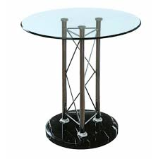 contemporary stylish outdoor bistro with round high end bar tables pub style glass table top