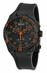 Mido Ocean Star Captain 44mm Black Stainless Steel Case with ...