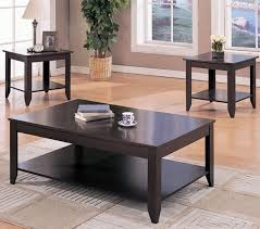 ... Coffee Tables, Outstanding Black Rectangle And Square Traditional Wood Coffee  Tables And End Tables With ...