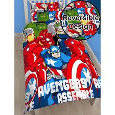 marvel avengers battle single duvet cover 2 in 1 reversible