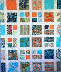 Handmade Quilt Turquoise and Orange Quilt 52 x & Like this item? Adamdwight.com