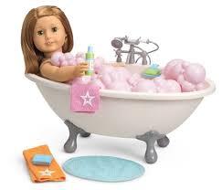 adorable american girl bathtub on ultimate bubble bath set