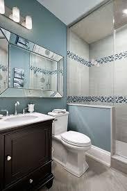 transitional bathroom ideas. Delighful Bathroom Blue Grey Tiles Elegant 35 Bathroom Ideas And Pictures Decoraci N Del Along  With 0  Inside Transitional O