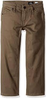 Volcom Pants Size Chart Amazon Com Volcom Little Boys Vorta 5 Pocket Slub Slim Fit