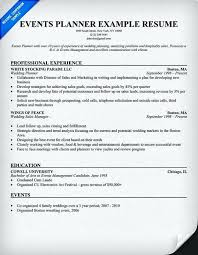 Resume Objective For Event Coordinator More Writing Northern