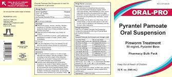 Pyrantel Pamoate Dosage Chart Pyrantel Pamoate Suspension Jefferson Labs