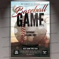 Baseball Tournament Flyer Psd Template