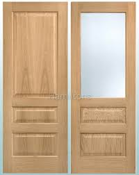 lpd oak contemporary 3 panel doors and frosted glass doors