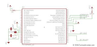 interfacing a ps playstation controller curiousinventor schematic ps2 to pic18f4550