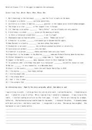 Restrictive relative clauses give information that defines the noun—information that's necessary for complete identification of the noun. English Esl Relative Clauses Worksheets Most Downloaded 250 Results