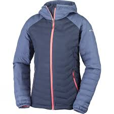 plus size columbia jackets womens columbia powder lite hooded jackets nocturnal bluebell