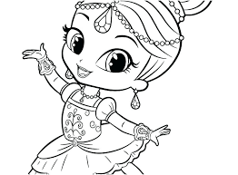 Coloring Pages Shimmer And Shine Coloring Pages Leah Dancing Get