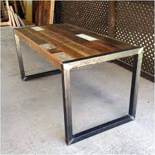 wood dining table with metal legs wood dining table with metal legs amazing reclaimed wood table or desk square metal legs round wooden dining table metal