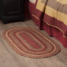country primitive farmhouse cider mill braided jute rugs runners or placemats 27 95