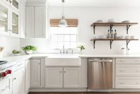 modern farmhouse kitchen with quartz countertops