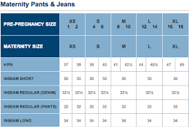 A Glow Maternity Size Chart 62 Ageless Old Navy Size Chart Inches