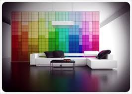 home office wall color ideas photo. Rainbow Layering Home Office Wall Color Ideas Photo