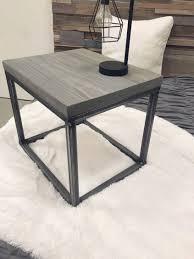 rustic wood and metal coffee table modern rustic industrial steel and wood grey nightstands end tables