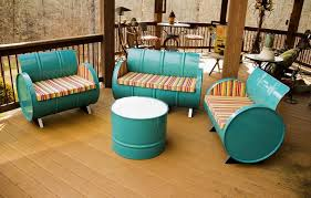 repurposed office furniture. view in gallery 55gallon steel drums repurposed into beautiful patio furniture office